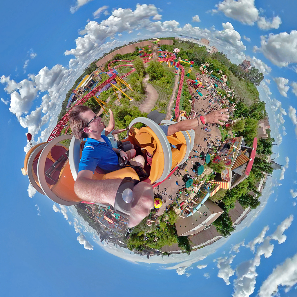 Slinky Dog Dash Tiny Planet