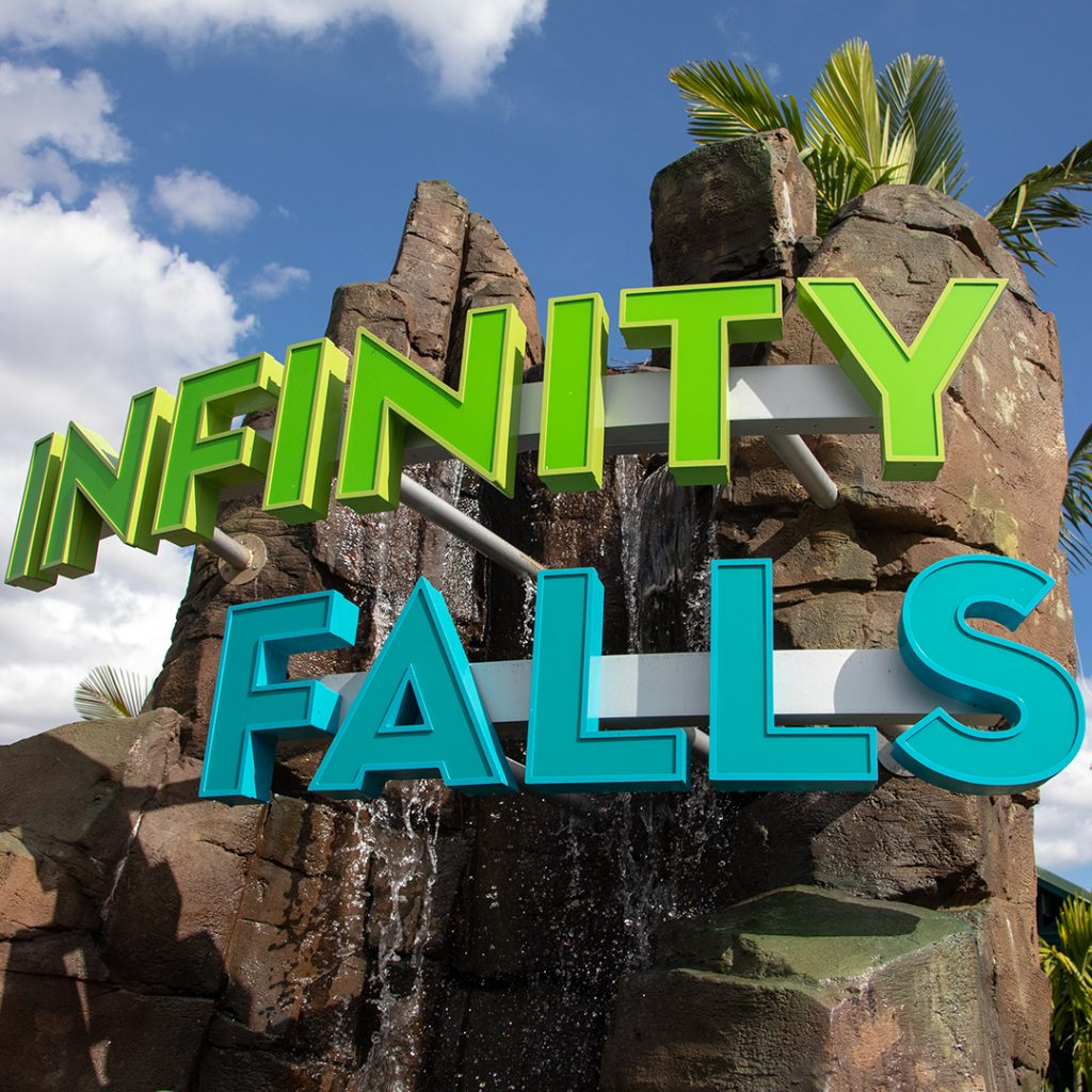 Infinity Falls Sign