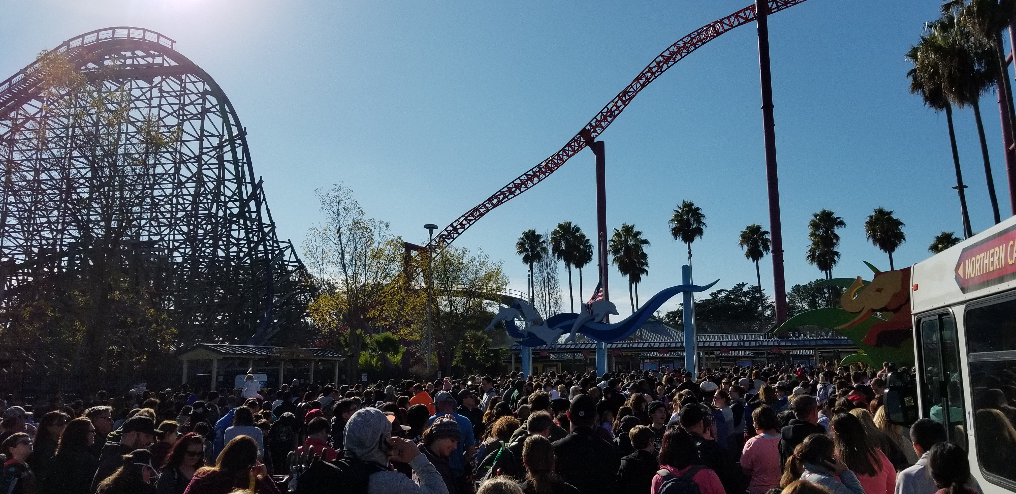 One of the Busiest Days at Six Flags Discovery Kingdom
