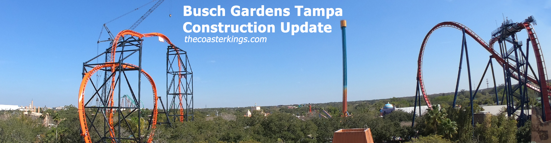 Busch Gardens Tampa Construction Update - February 2019
