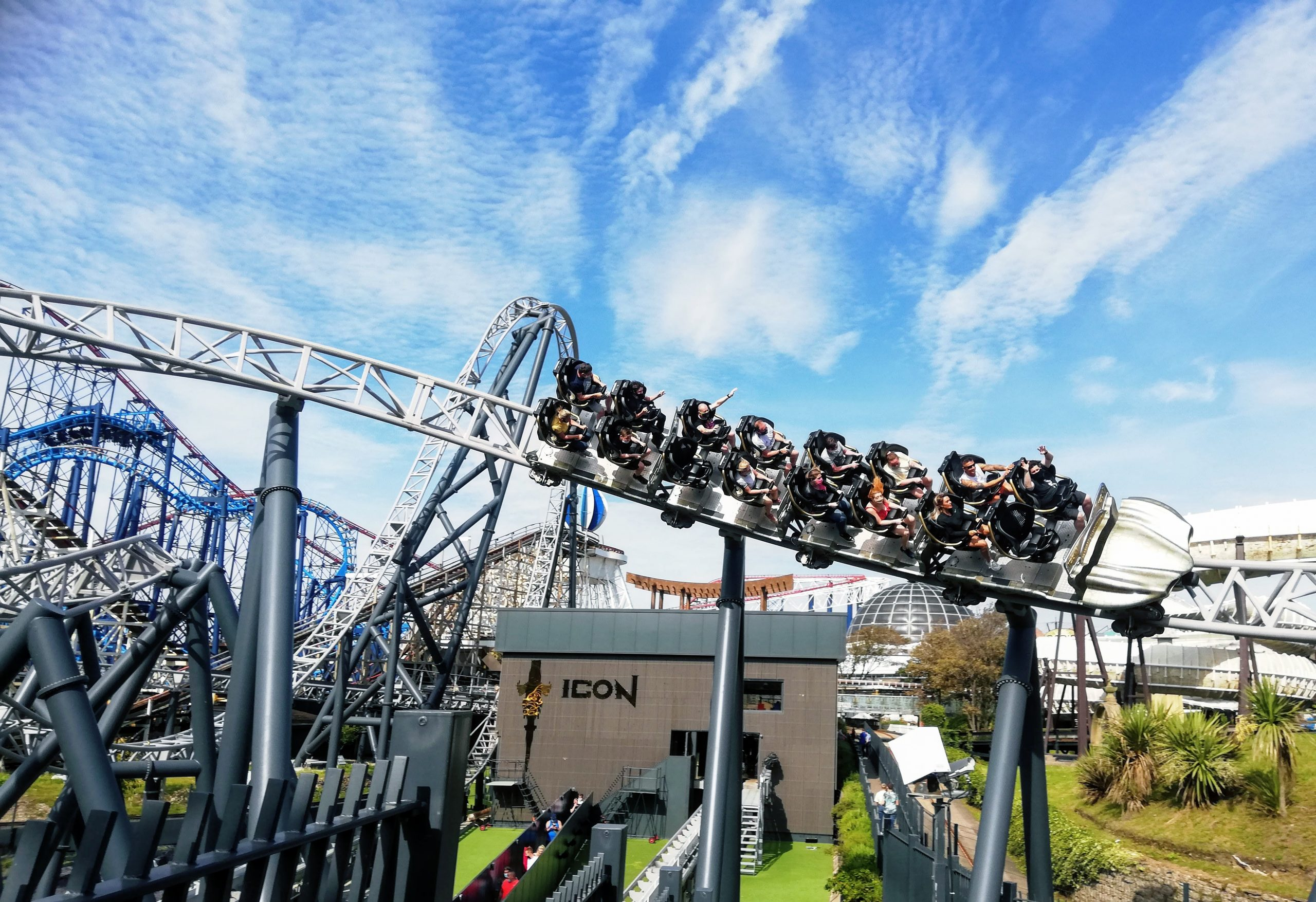 Icon rollercoaster at Blackpool Pleasure Beach
